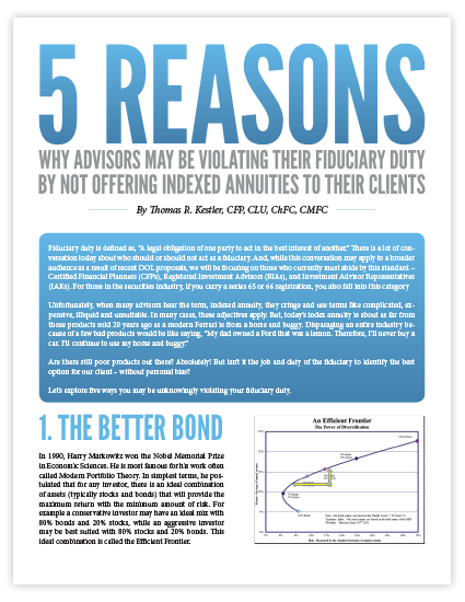 5 Reasons Why Advisors May be Violating Their Fiduciary Duty By Not Offering Indexed Annuities to Their Clients