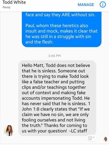 "This is THE STORY THAT LIFESTYLE MINISTRIES (TODD WHITE) IS USING TO EXPLAIN ""WHAT REALLY HAPPENED"""