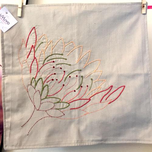 Protea cushion cover