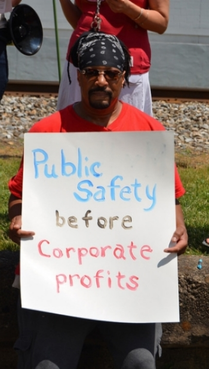 Ratepayer taking action for our safety outside of WV American Water's treatment plant