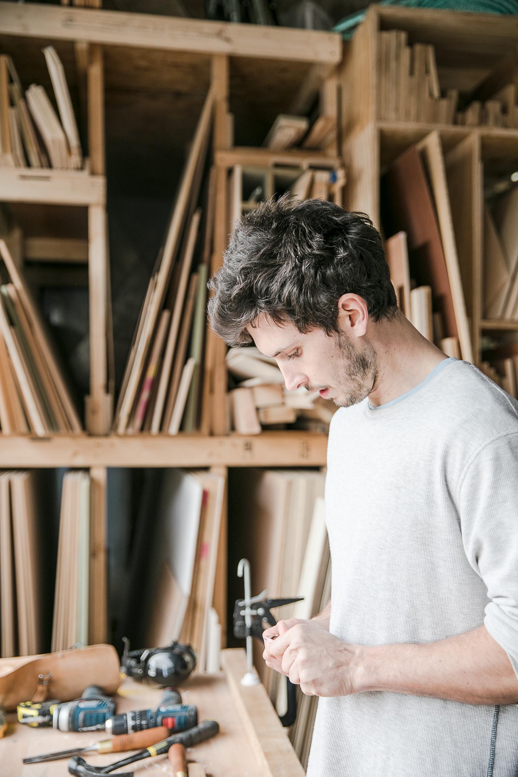 Workshop portraits, Jacob.