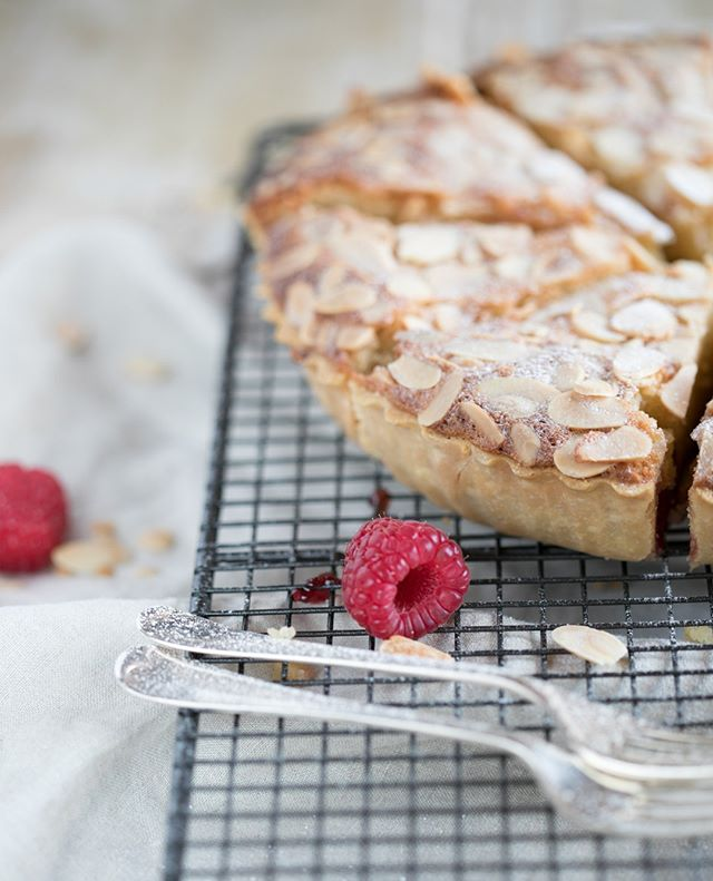 Bakewell beauty. That is all.  Shot last month for Boardman & West, Food stylists.  #bakewelltart #chloeandcamera #foodphotography #foodstylists #raspberry #canon5dmark1v #macro #sheshoots #slowliving