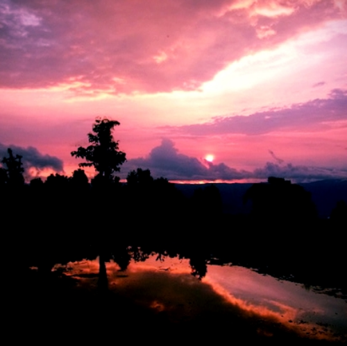 Sunset in Munduk, Bali - January 2016