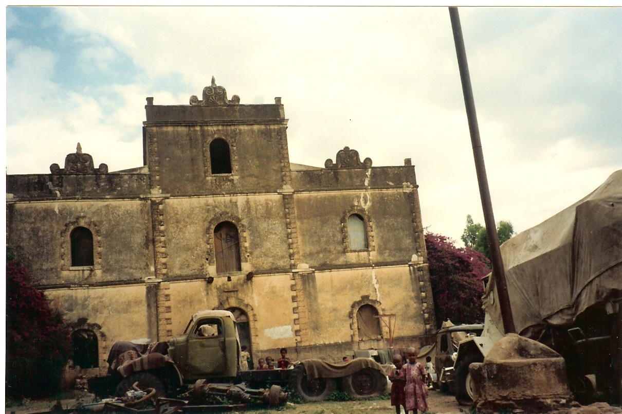 When ECDC's president Dr. Tsehaye Teferra visited the ' Inda Nebri'id  in 1992, the former home of the governor of Axum was in ruins.