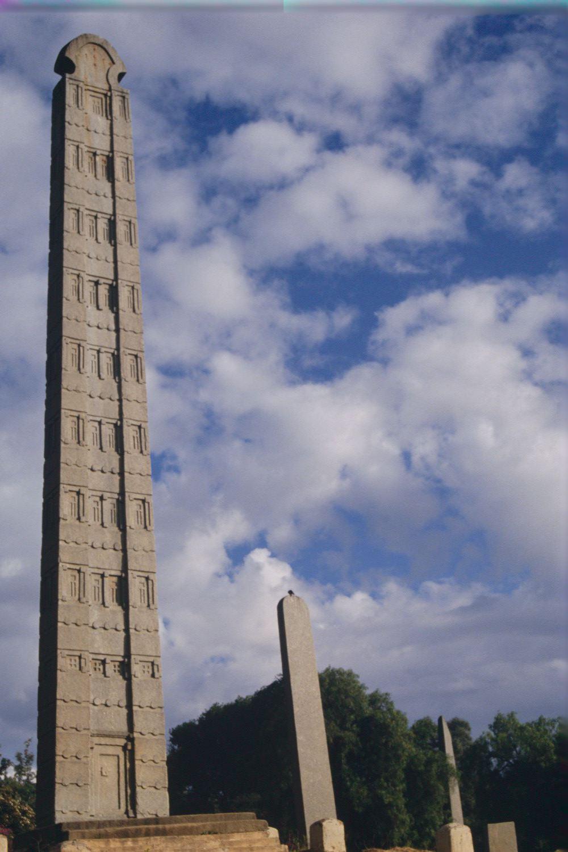 One of Axum's famous obelisks.