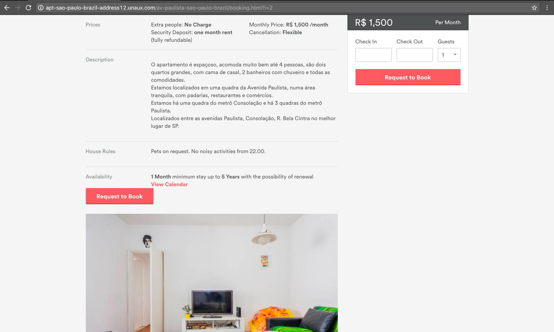 (Site clonado do airbnb)