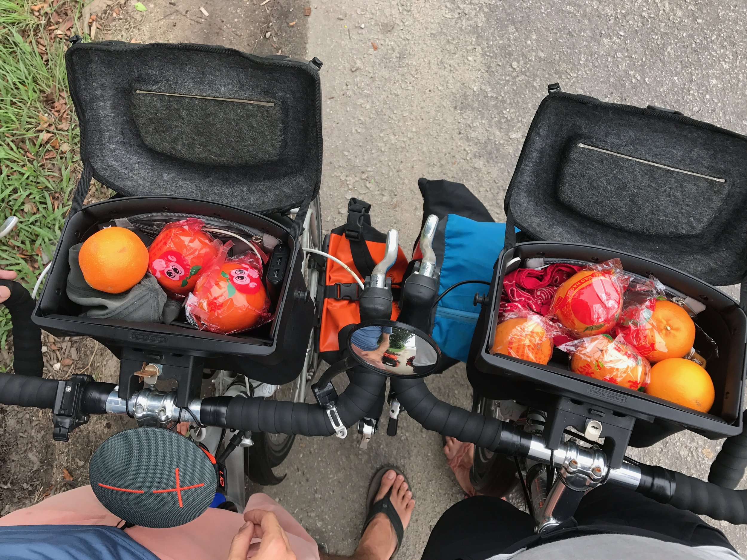 So many mandarins! People have been coming up to us non-stop for the last few days and offering us mandarins and wishing us a happy (Chinese) new year. We might have to start giving some out ourselves if this trend continues. Either way, we won't be getting scurvy on this trip.