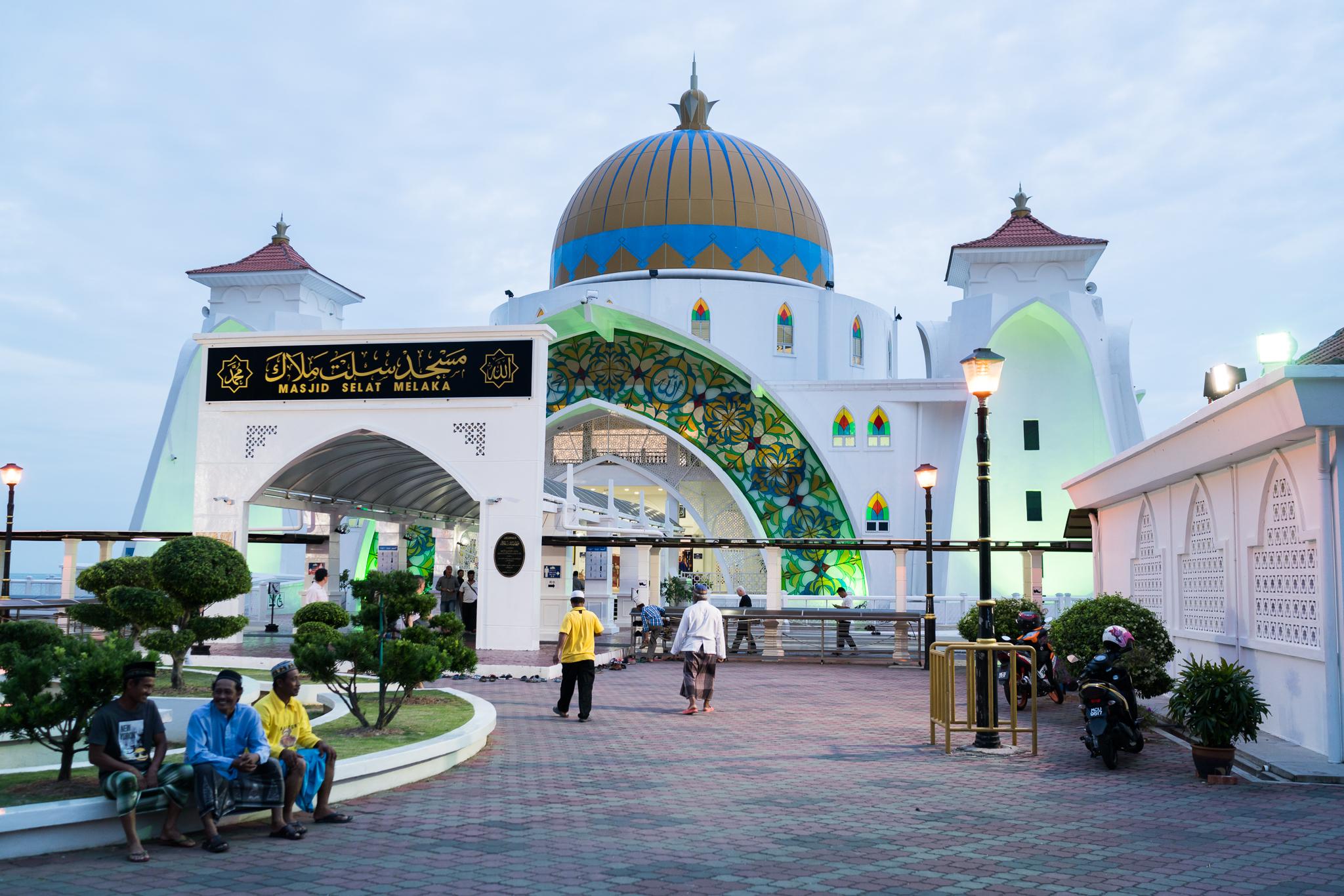 The floating mosque in Melaka