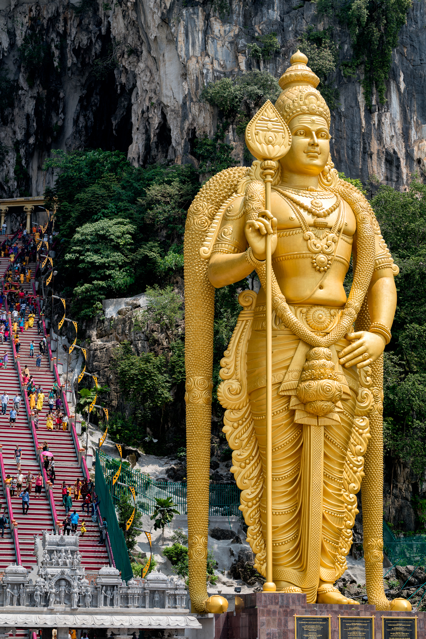 The main attraction - a giant statue of Lord Murugan, the indigenous god of war