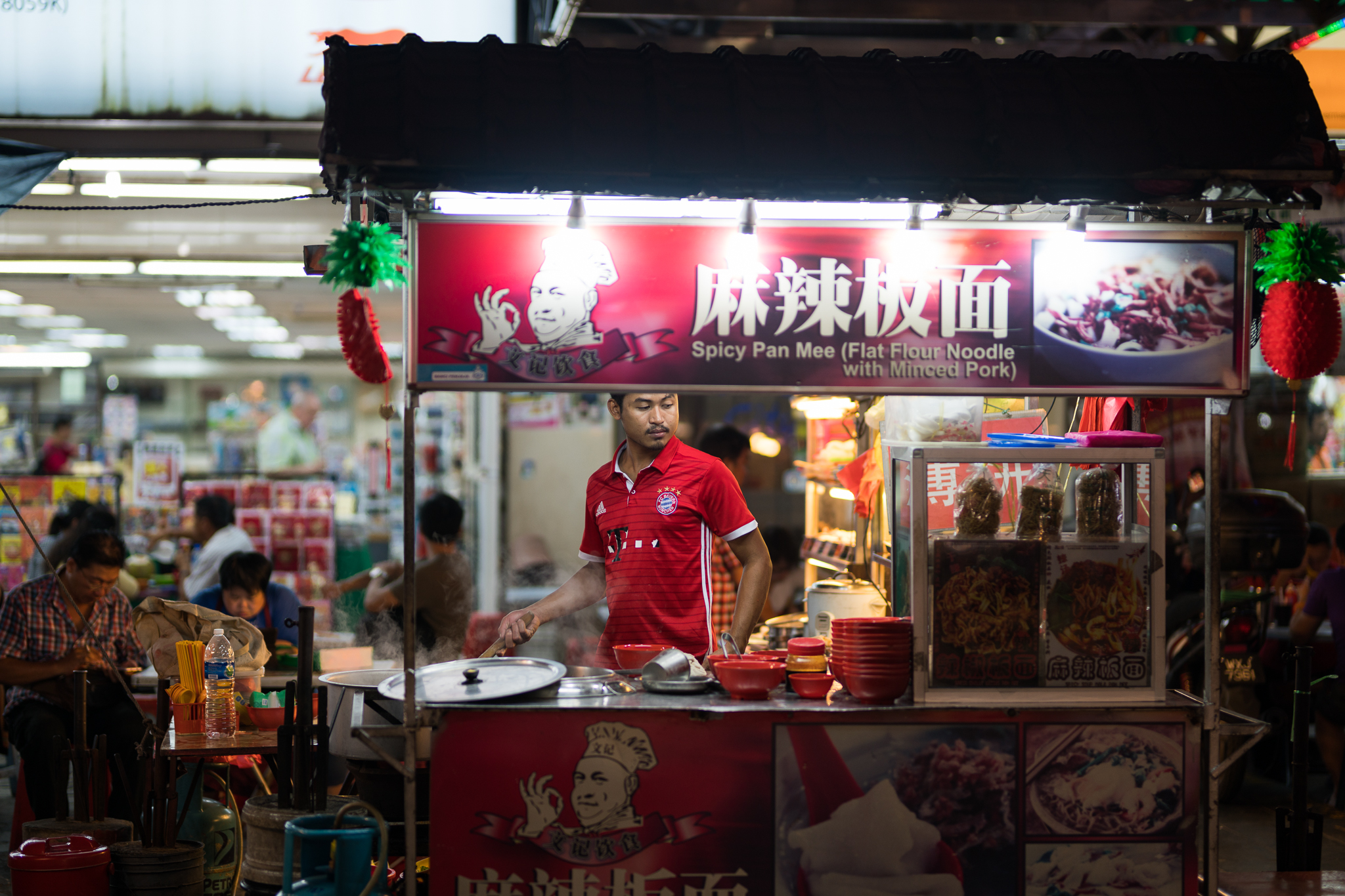 We went to this stall almost every night - dried beef noodles. Delicious and filling, for only $2