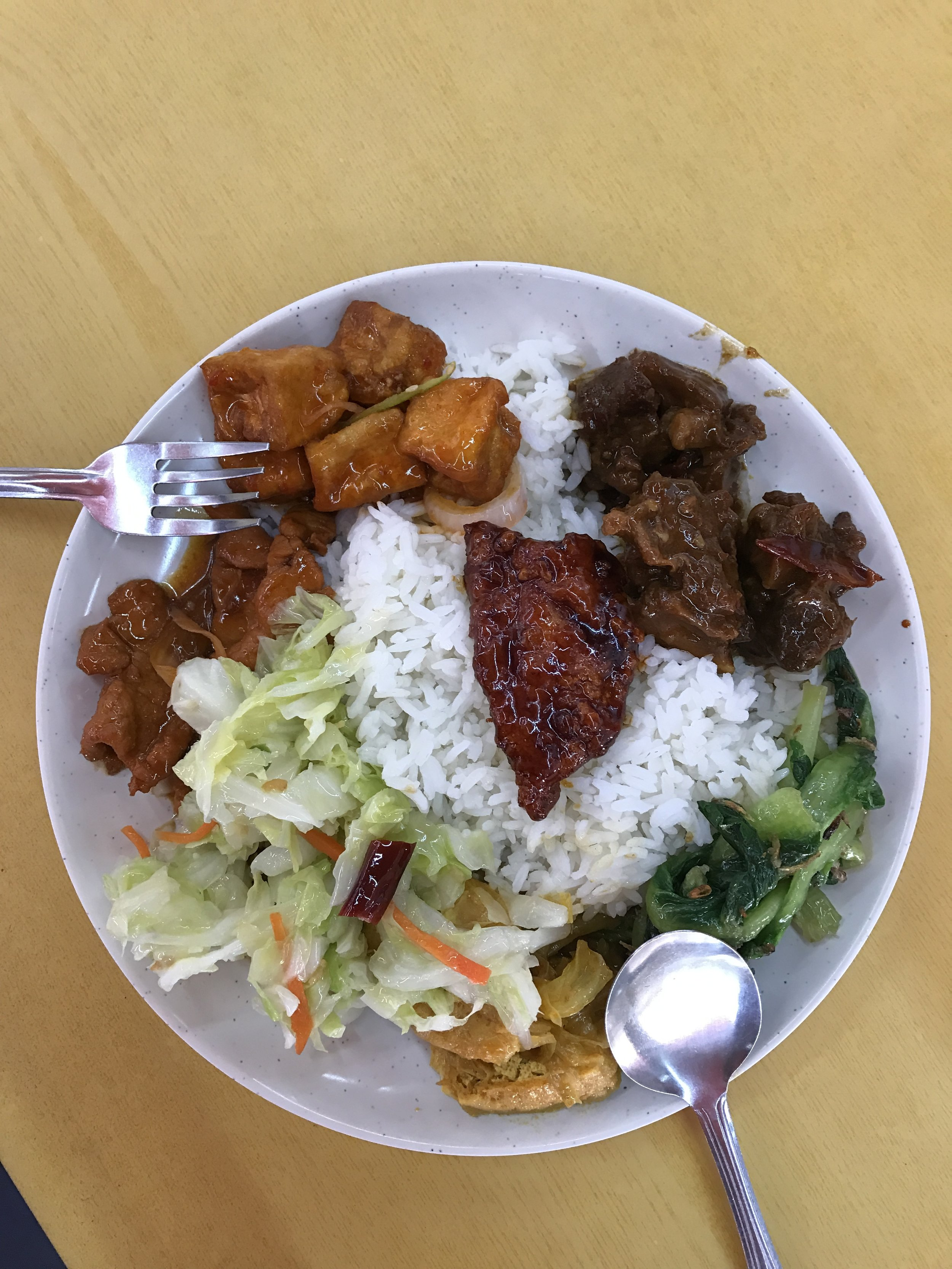 Buffet lunch - all this for 75 cents.
