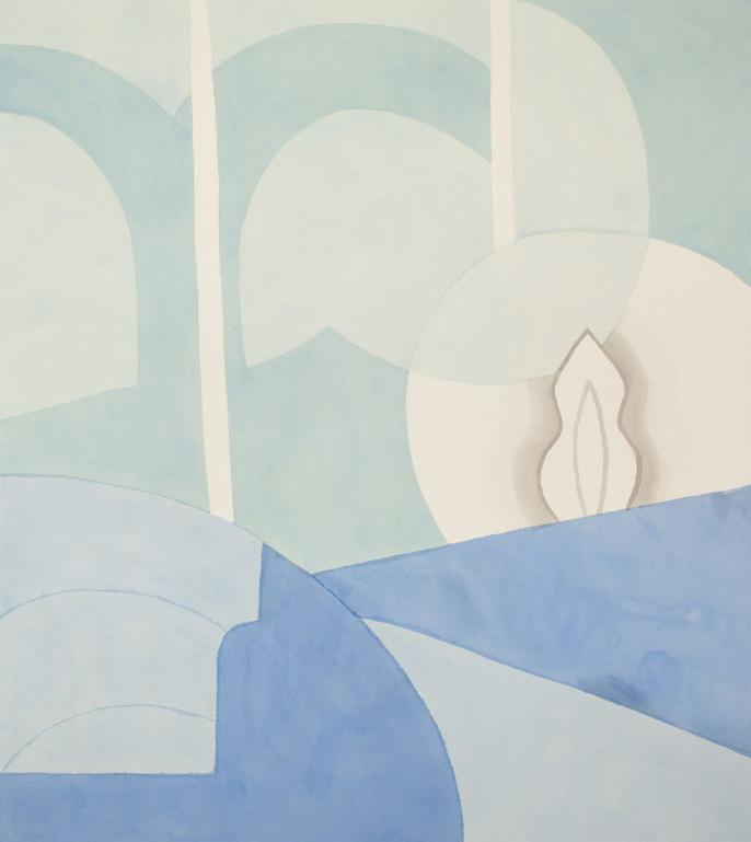 """Blue , acrylic on canvas, 2015, 56"""" x 62"""""""