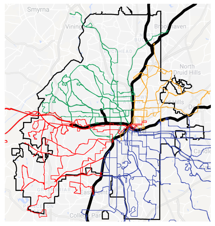 MARTA Bus Routes. Source:  ARC Transit Routes 2018-19