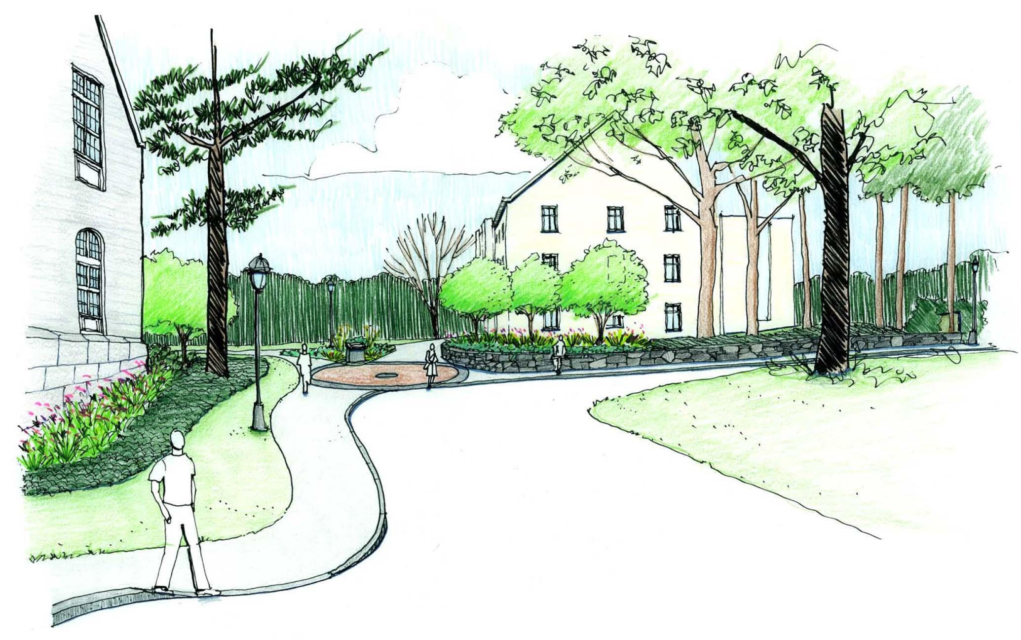 South Entry Landscape Sketch 1A color.jpg