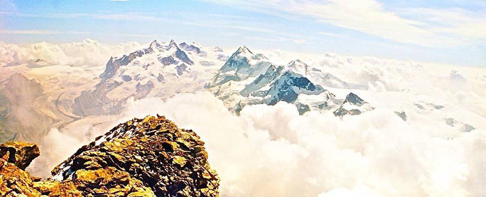 Monte Rosa from the summit of the Matterhorn.