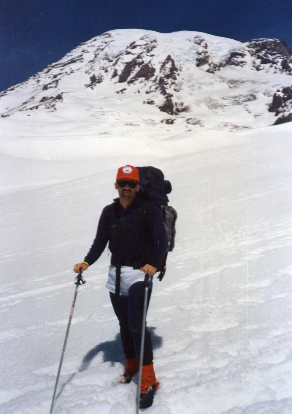 On Muir Snowfield. Mount Rainier.