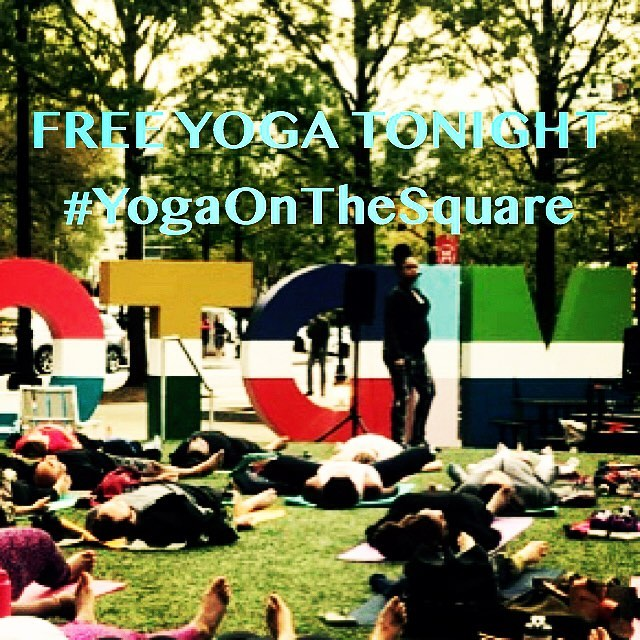 Happy Wednesday Warriors!! Join me tonight for your weekly dose of wellness outside @YogaOnTheSquare sponsored by @colonysquareatl @exhalespa @michellebarnardfitnessyoga  ALL levels are welcome 💕 Bring your mat, a friend, a neighbor, even an enemy @ 6:00 see you on the square!!!