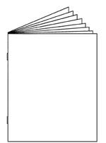 Saddle Stitched Book