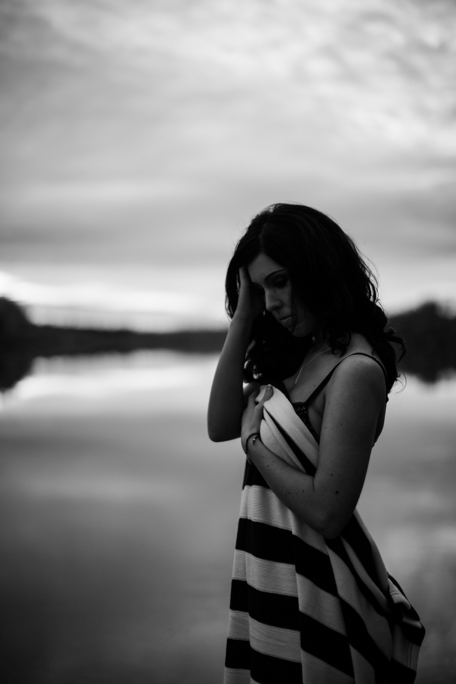 moody lake outdoor boudoir session