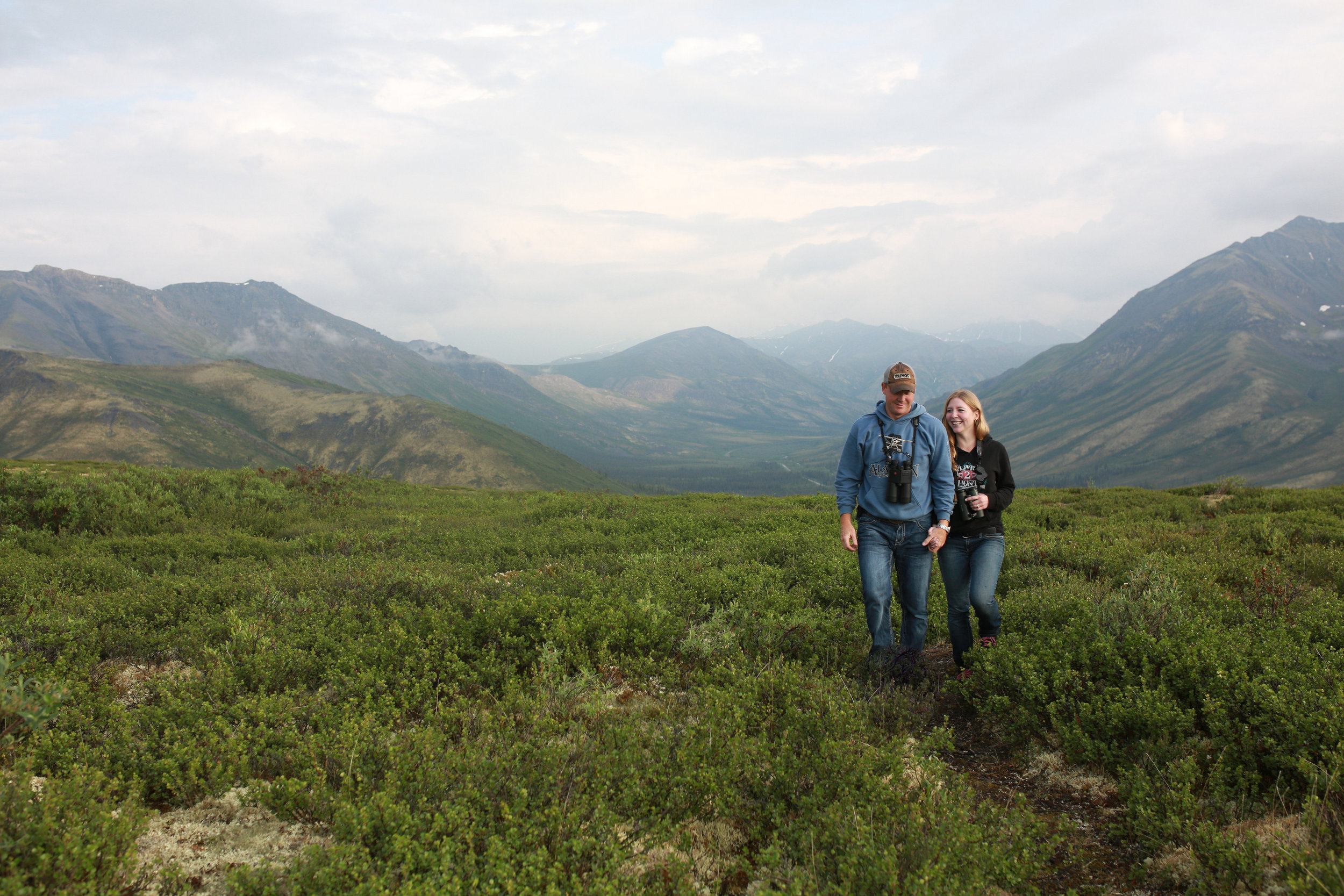 hiking engagement session on the dempster highway in the Yukon