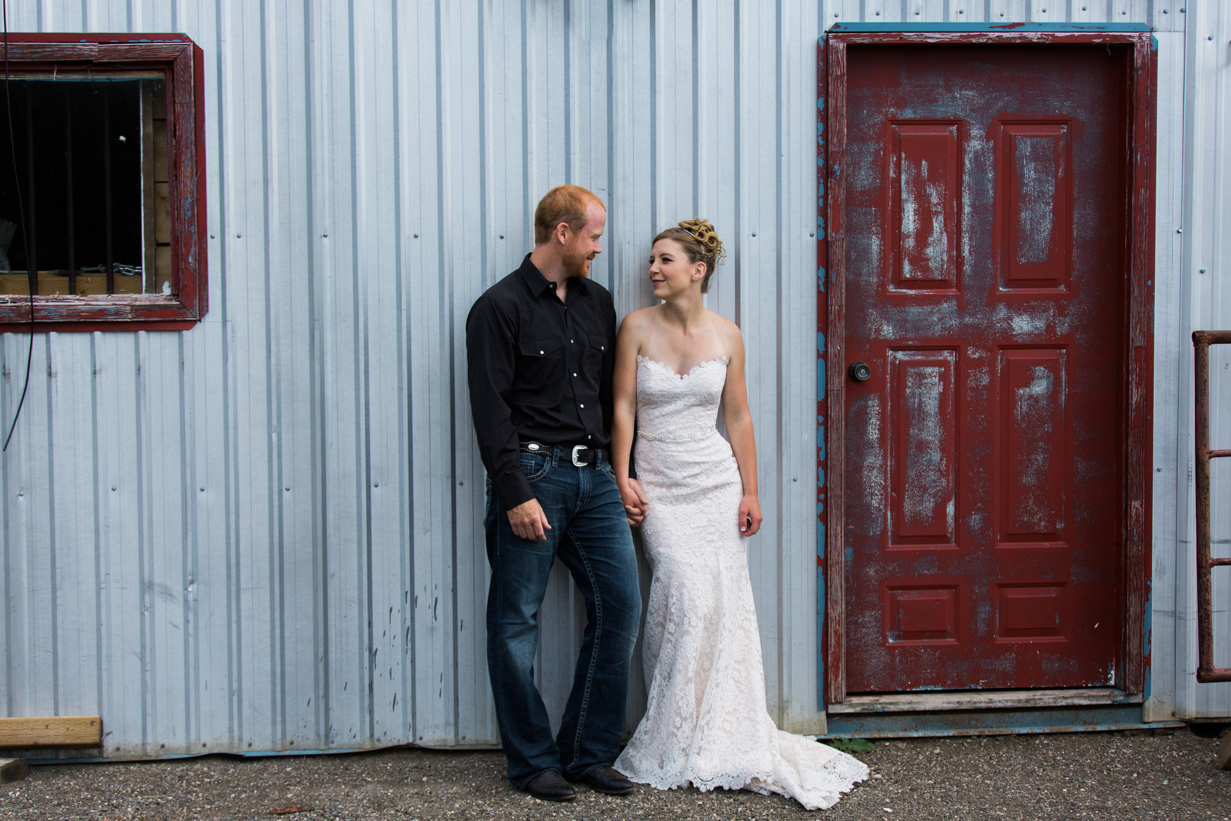 joel and courtney of bee whyld honey on their wedding day