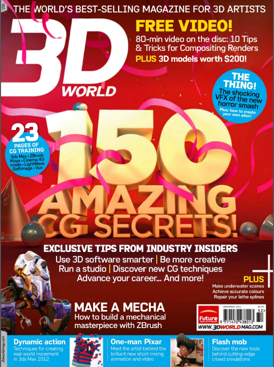 3D World - 150 Christmas 2011 Cover