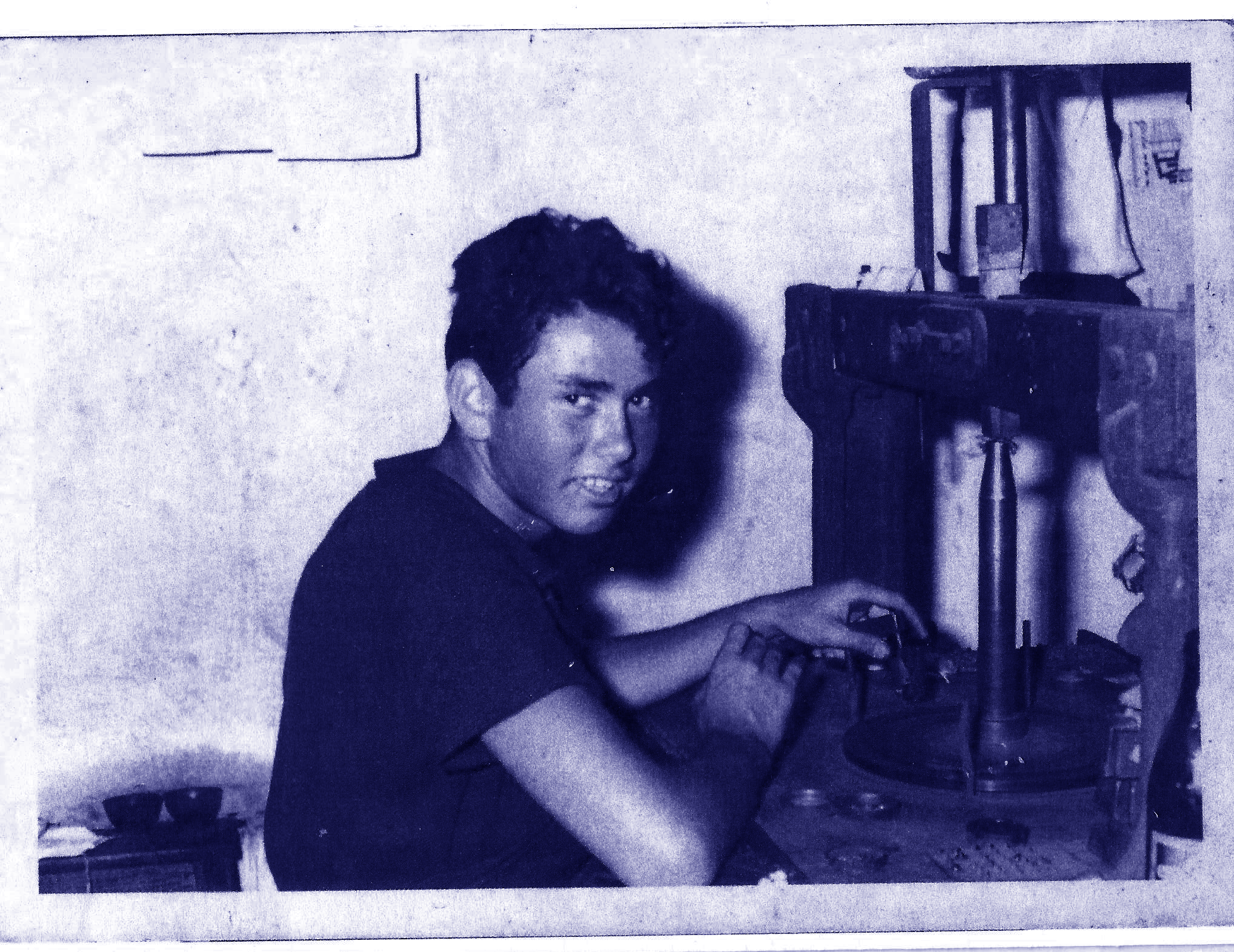 Zevika cutting diamonds at age 12 in 1962.