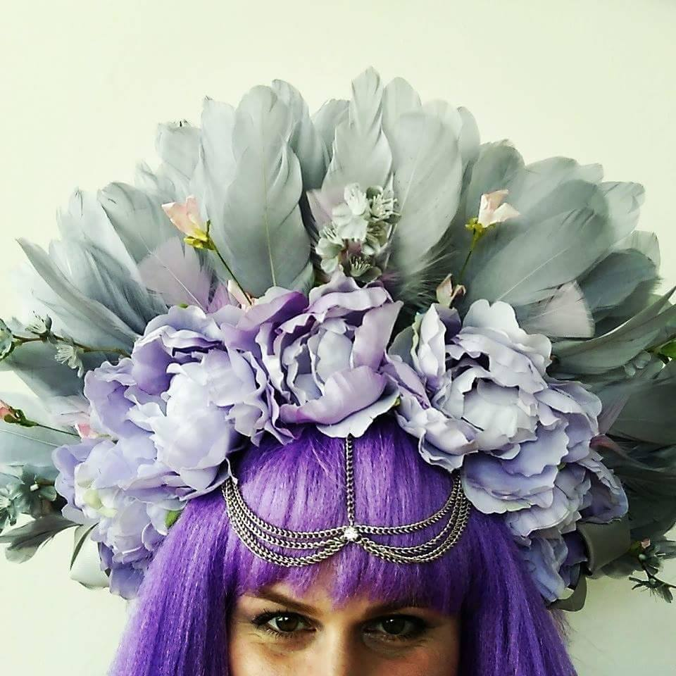 Glitter Galka, Headpiece