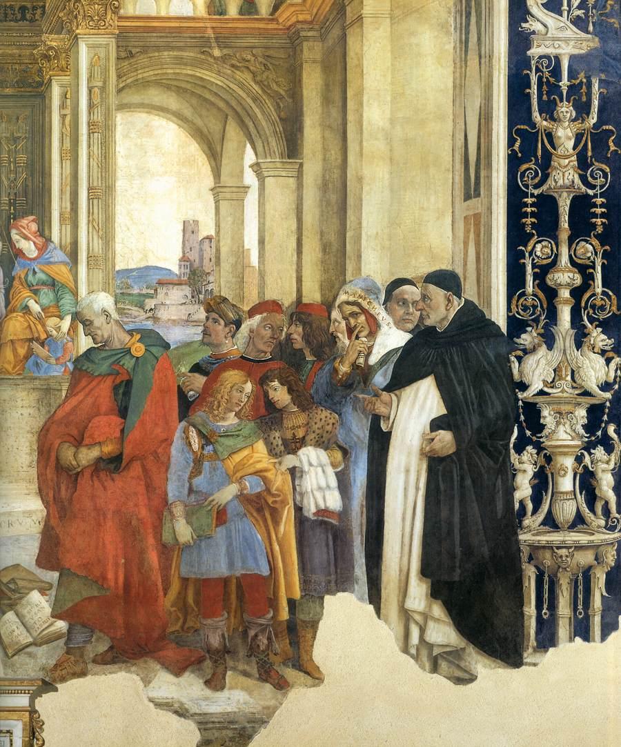 Filippino Lippi, Carafa Chapel, Triumph of St. Thomas Aquinas over the Heretics