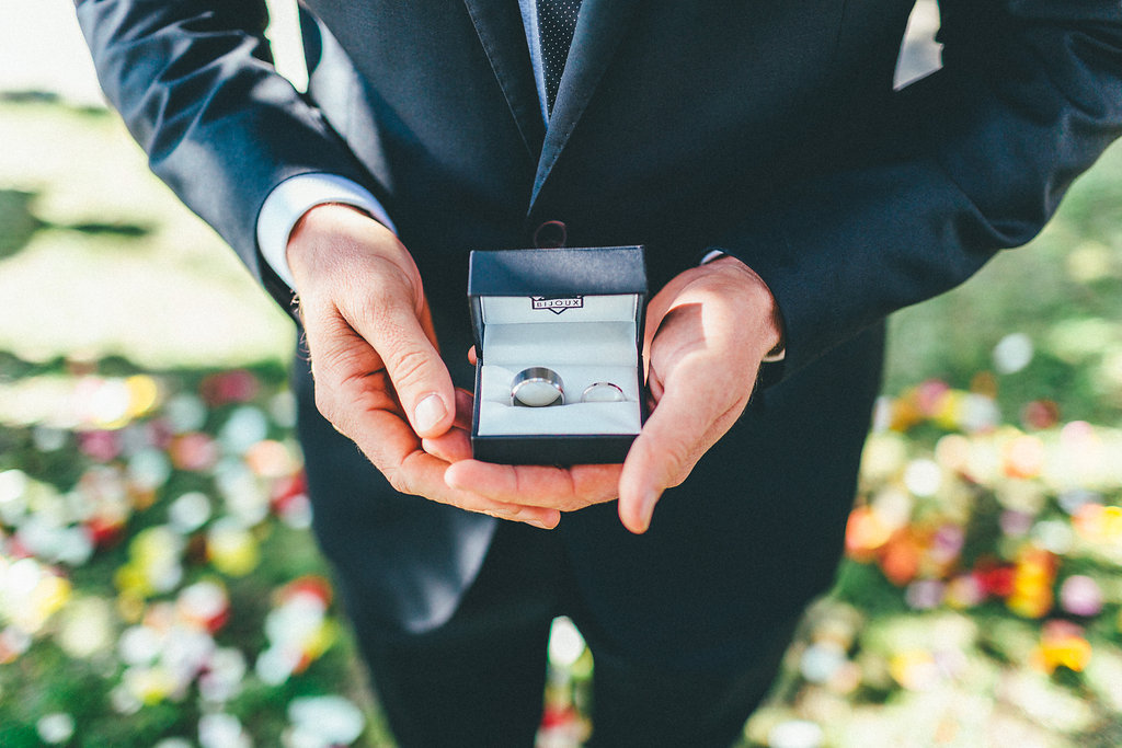 Groom holding the rings - Canberra Small Weddings