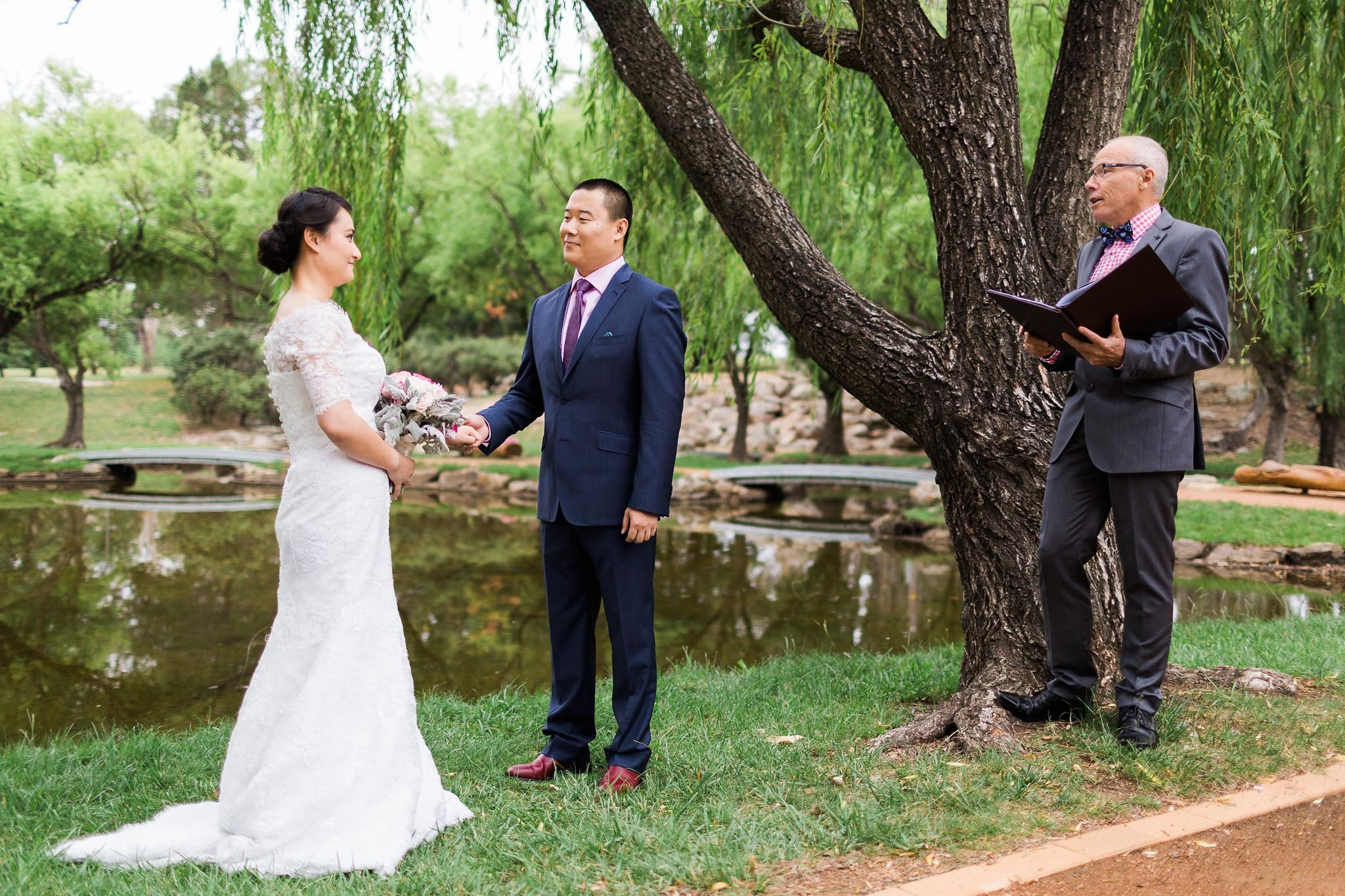 Couple being married by Steven Murray of Canberra Small Weddings
