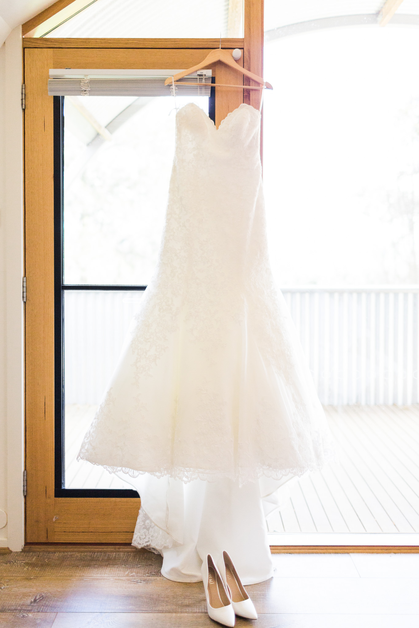 Dress and Shoes - Gold Creek Station Wedding