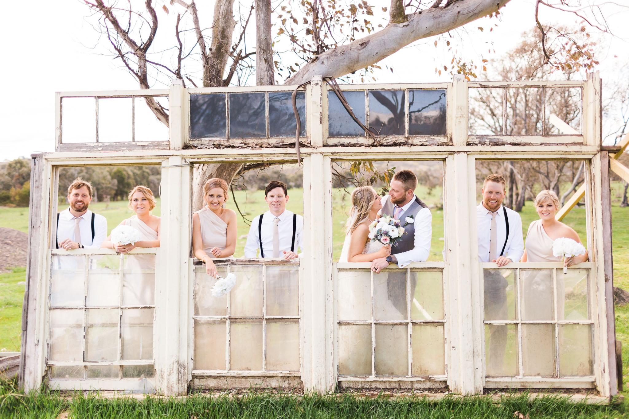 Old Window Frames - Gold Creek Station Wedding Photography