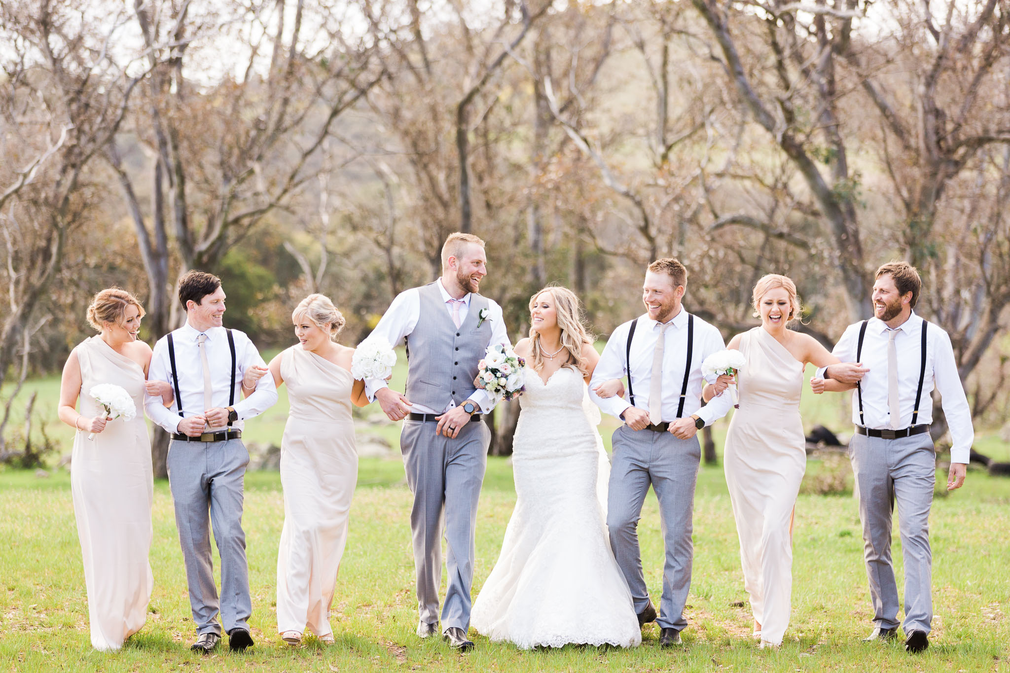 Bridal Party Walking - Gold Creek Station Small Wedding