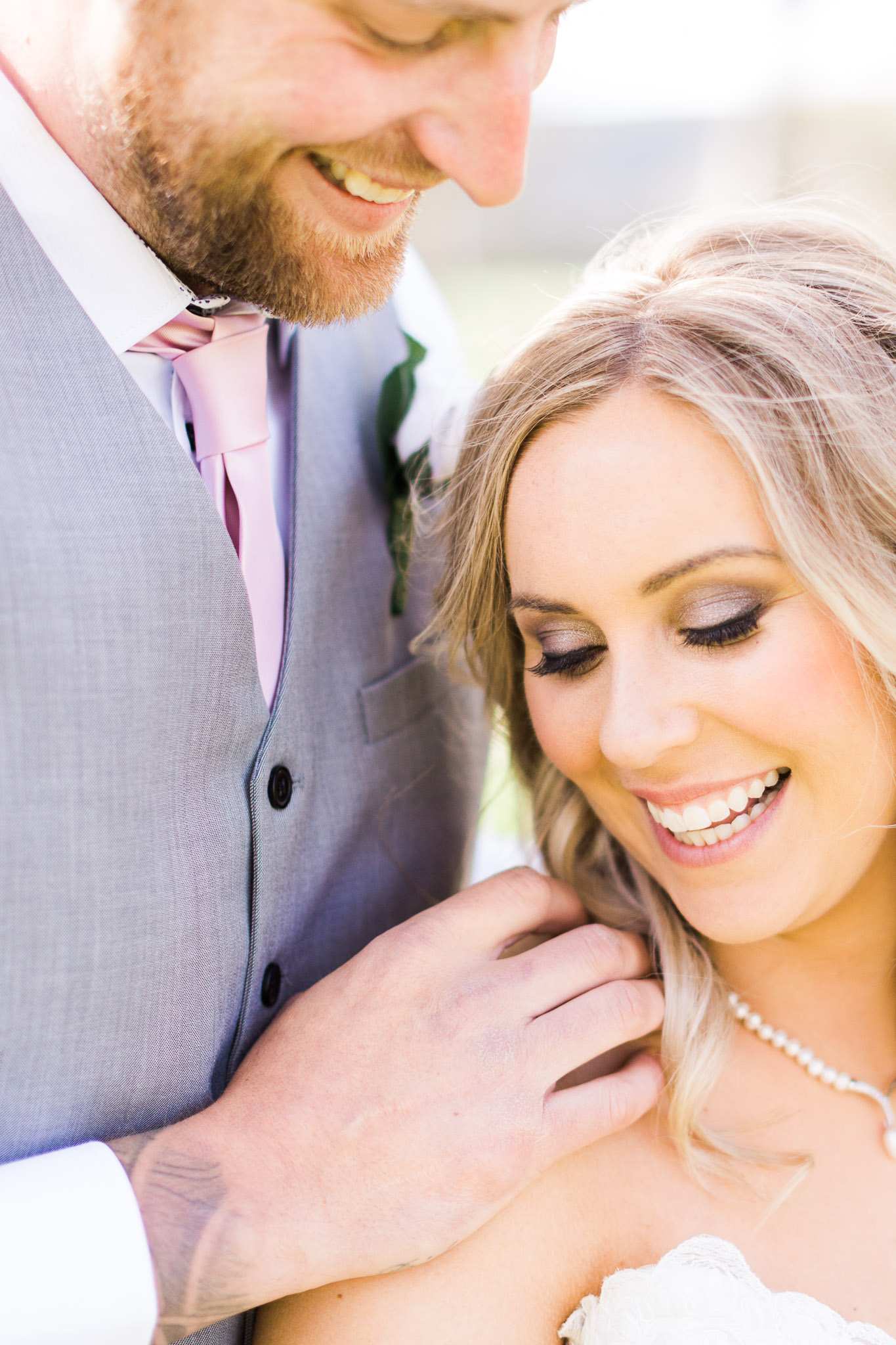 Close up photograph of Bride and Groom - Gold Creek Station Wedding