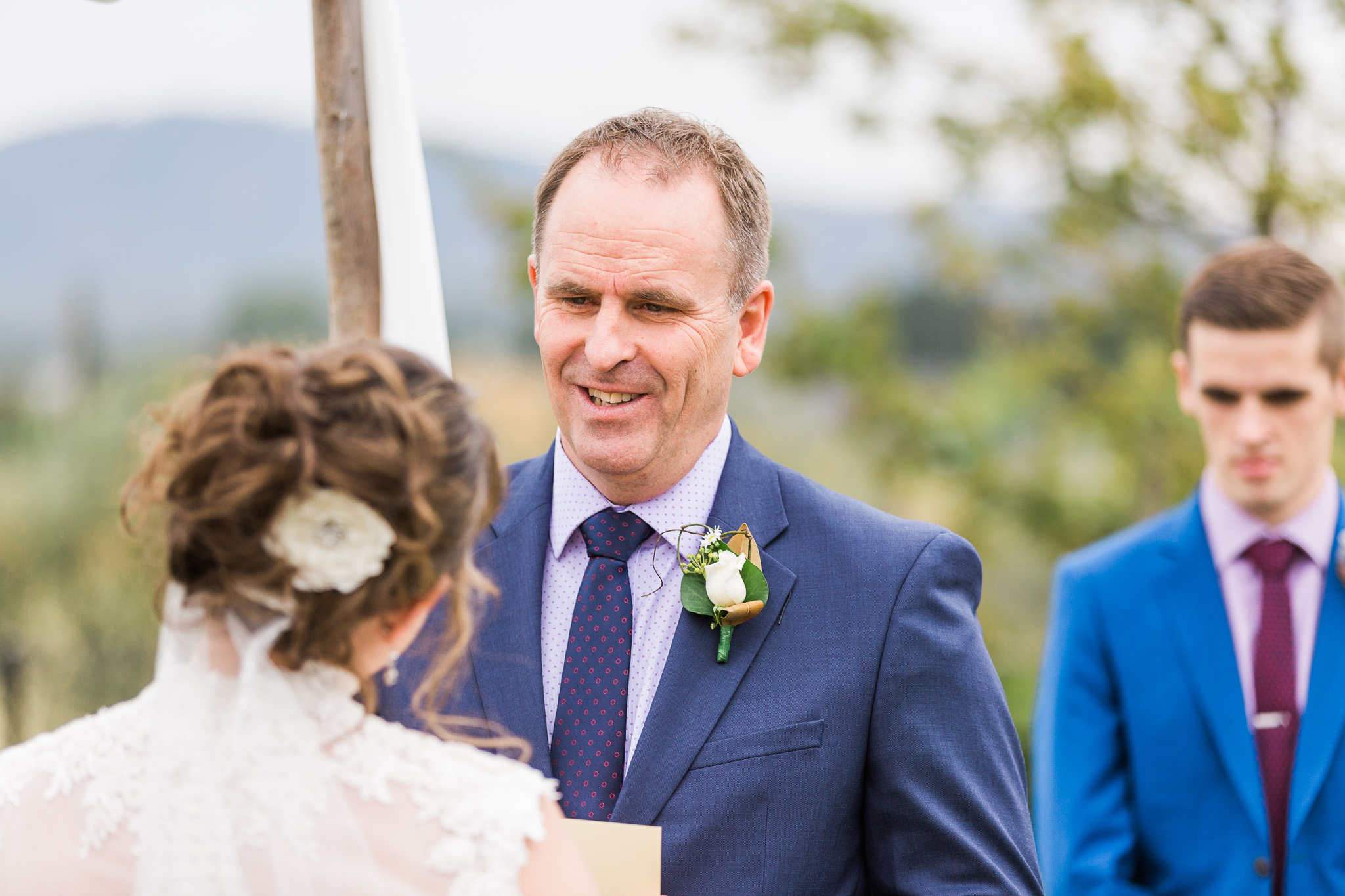 Bride and groom exchanging vows - Intimate Wedding Canberra