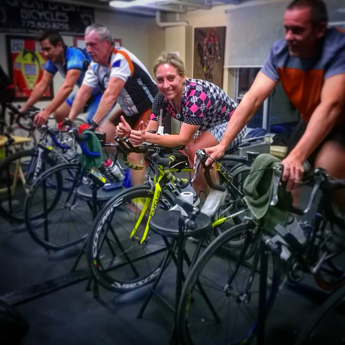 Here I am, riding with some strong men at Great Basin Bicycles. They believe they can do it... so, why don't I?