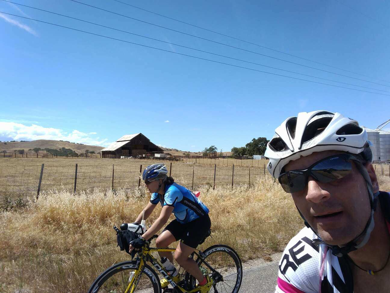 Lots of dry, hot miles and I am feeling horrible about making my teammates suffer.