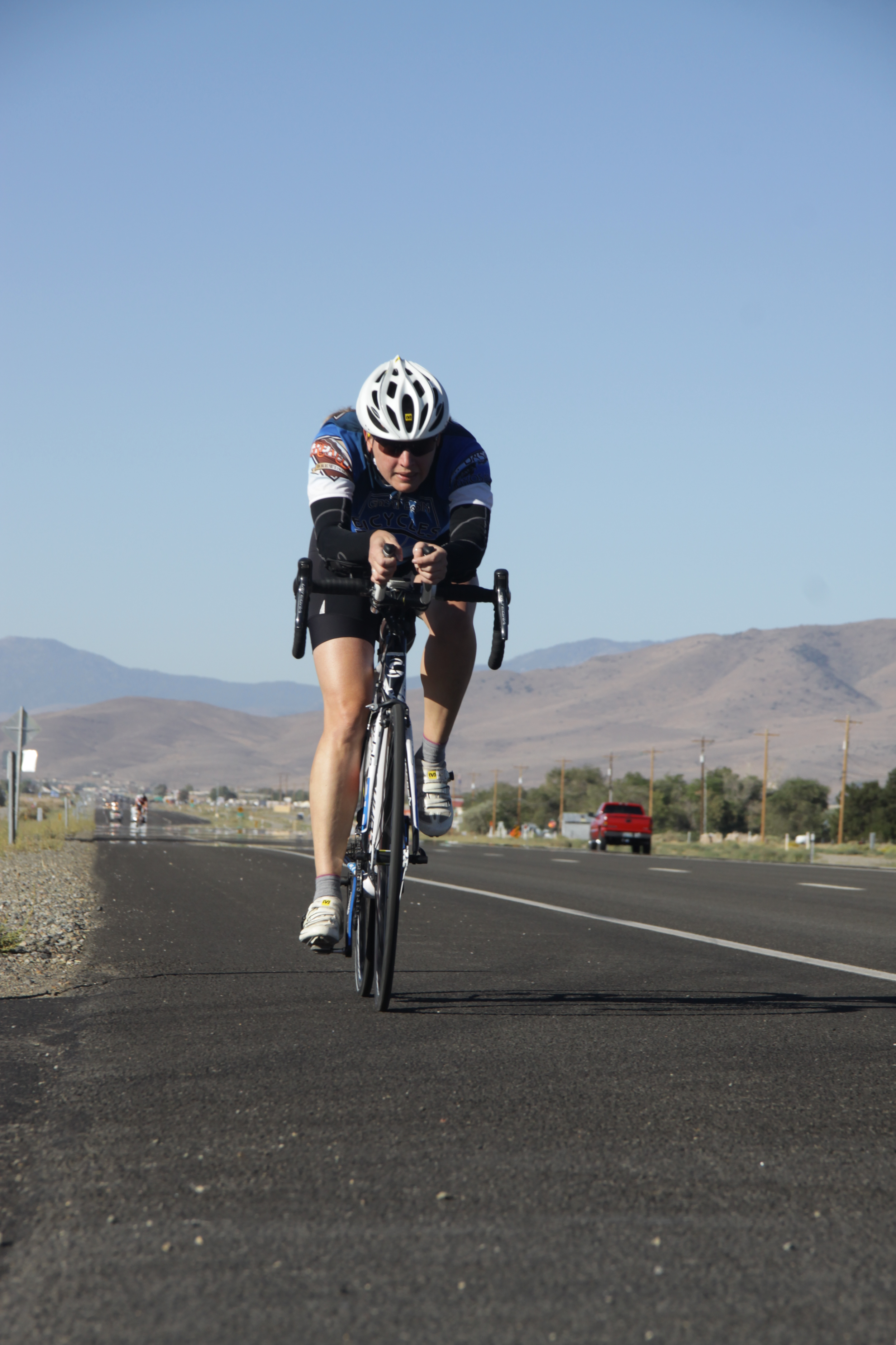 Jami Horner, racing the first stage of the Silver State 508.