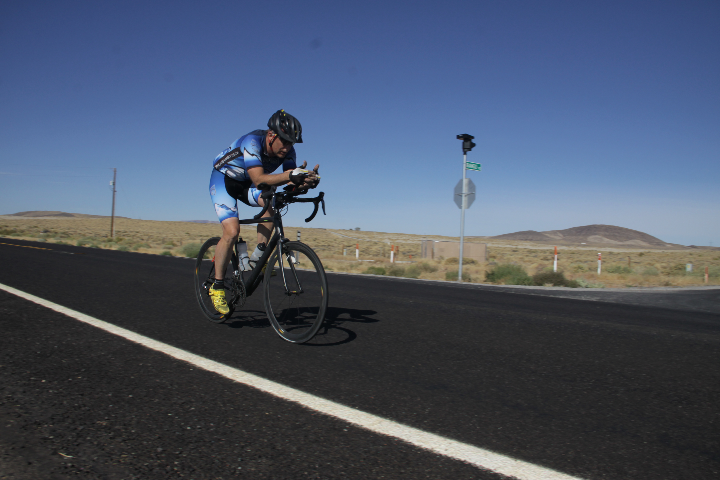 Rich Staley, showing them how it's done on Stage 2 of the Silver State 508.