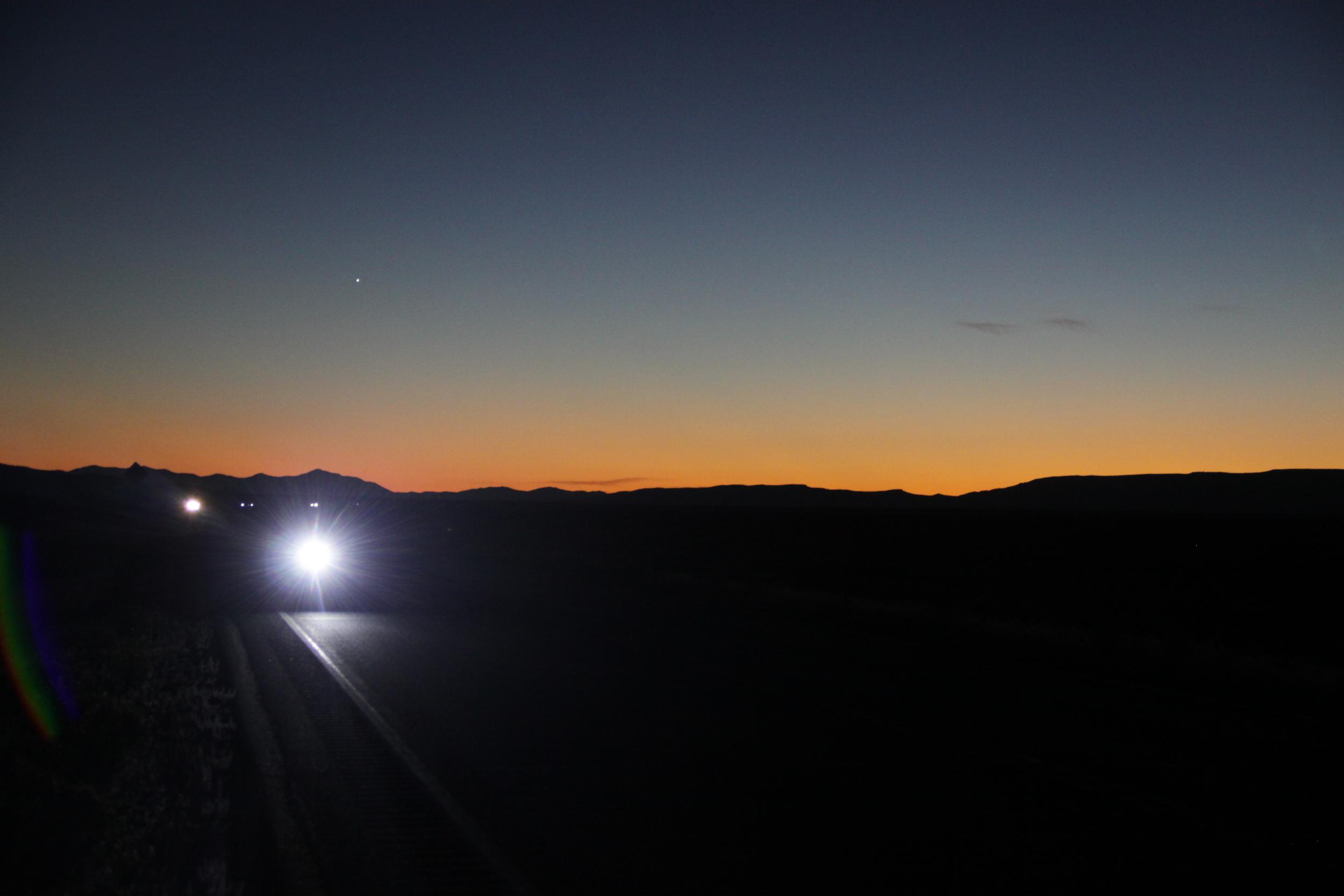 Lighting America's Loneliest Highway by bike.