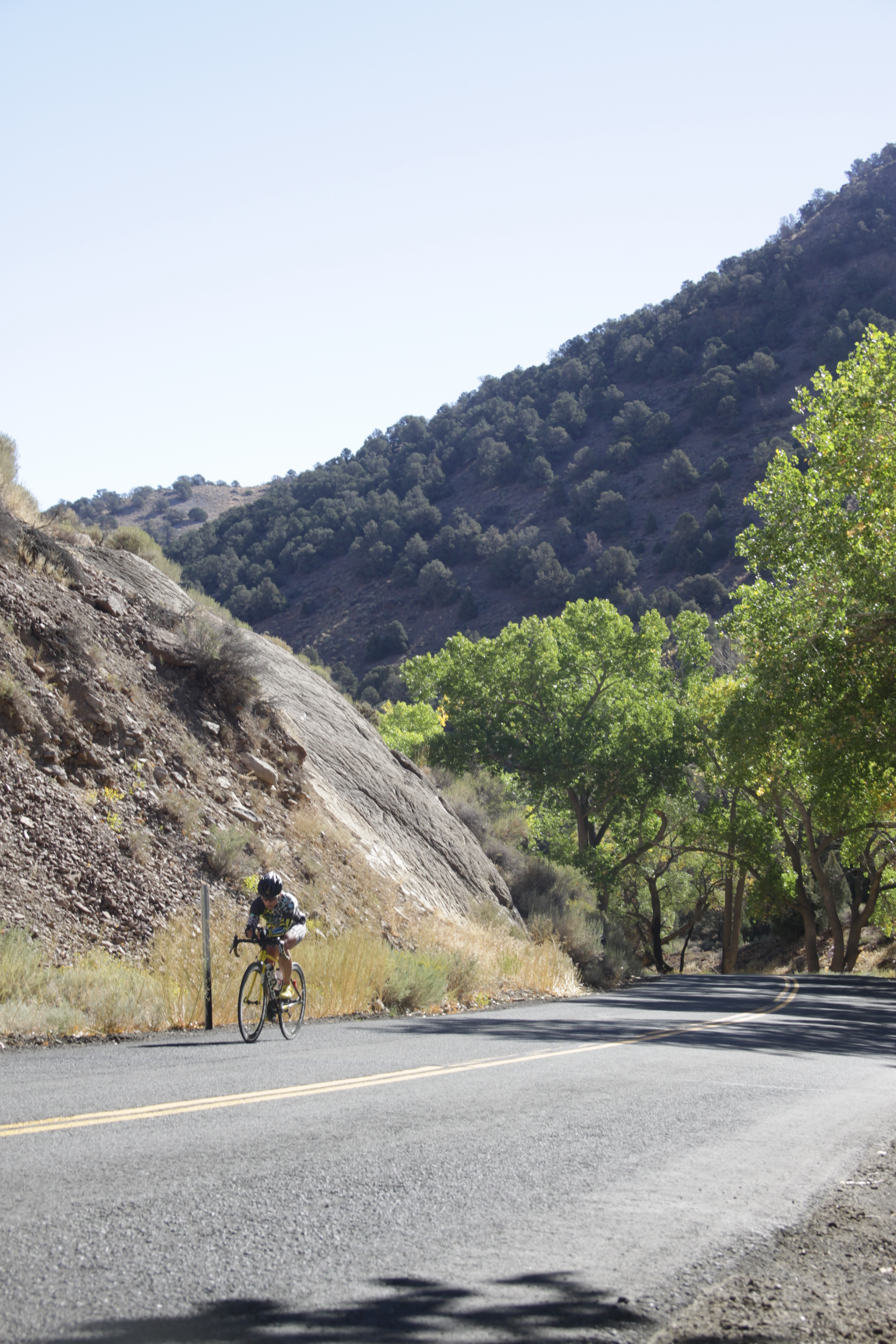 Climbing Six Mile Canyon-- the slowest climb of my life.