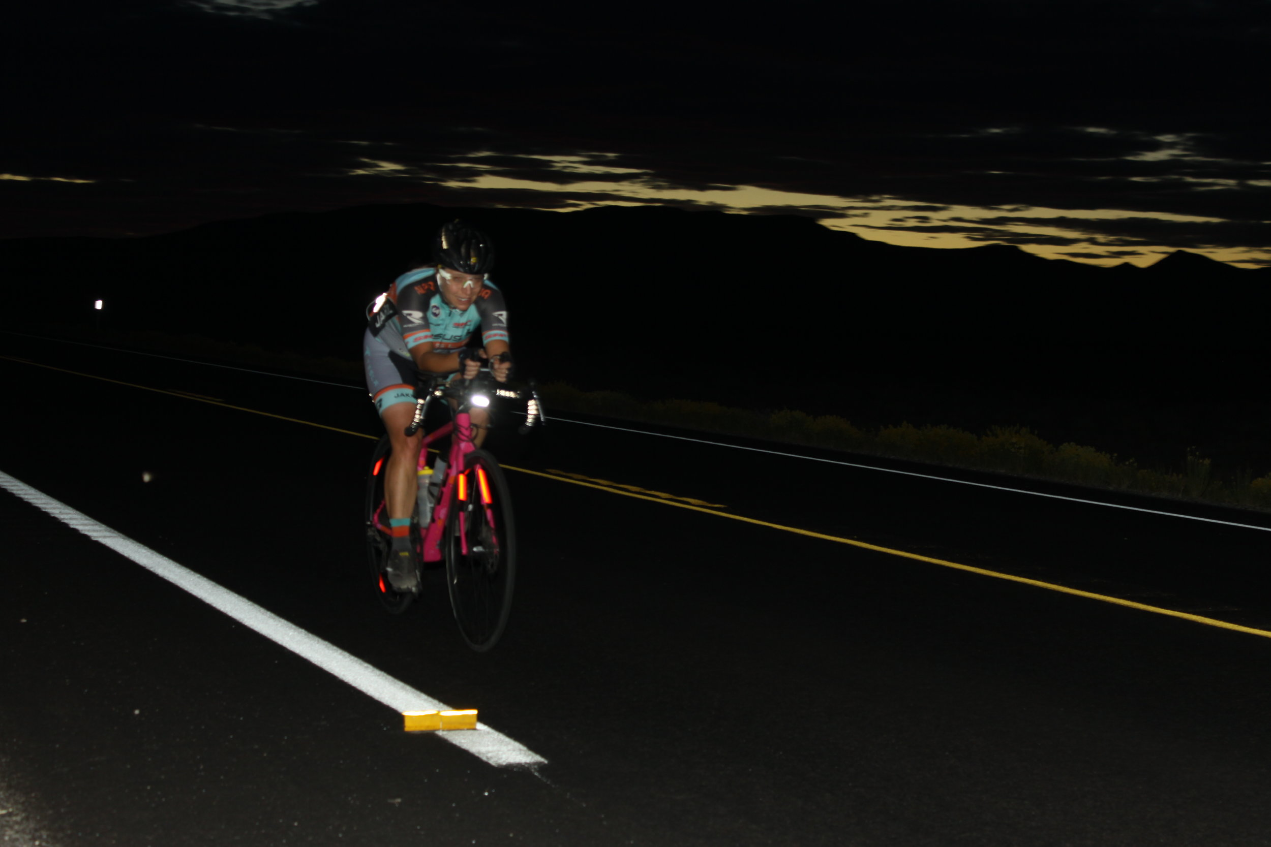 The Nite Rider lights mounted on our bikes during the stages of the race that were in the night time hours were absolutely amazing. The road in front of me was brightly lit, and the light more than lasted for the duration of even our longest night-time stage.