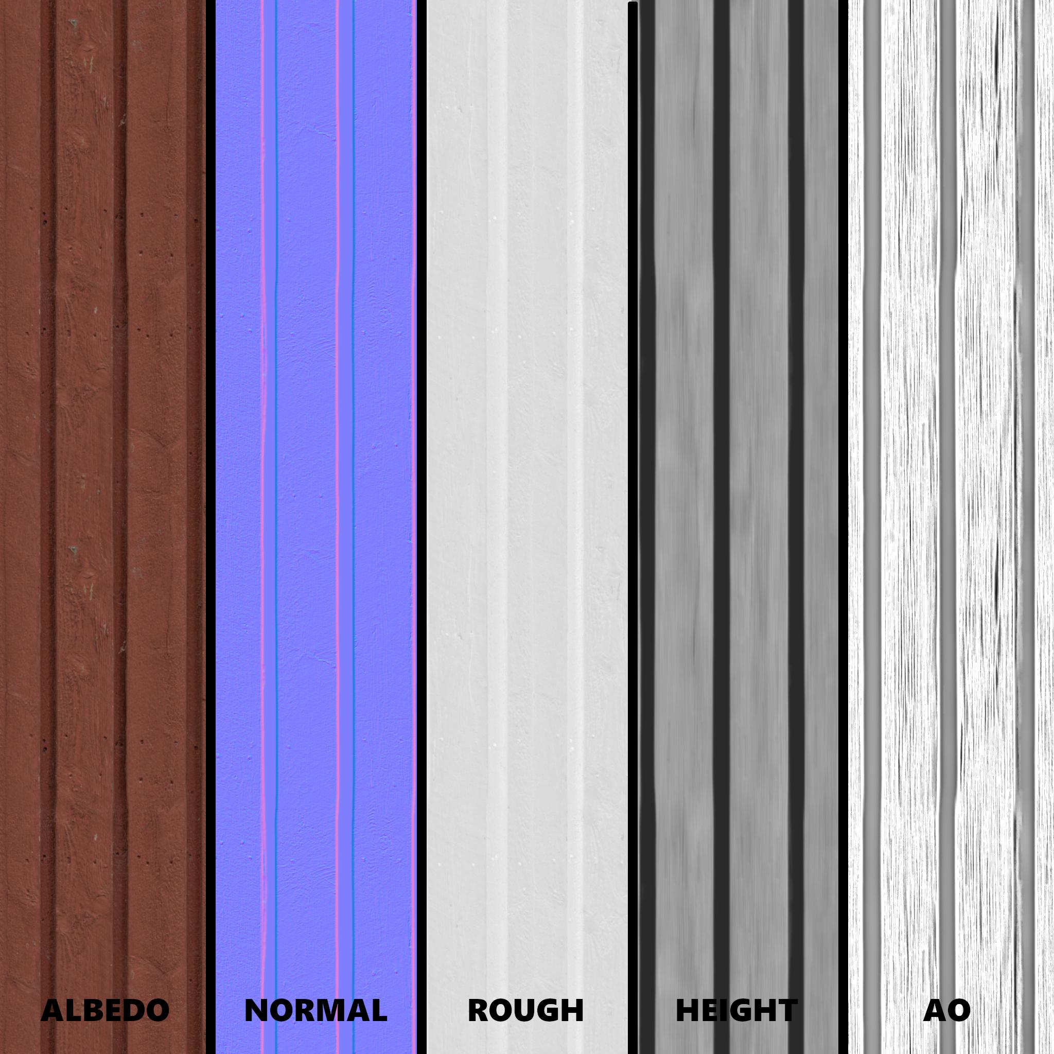 Wall planks (photogrammetry)