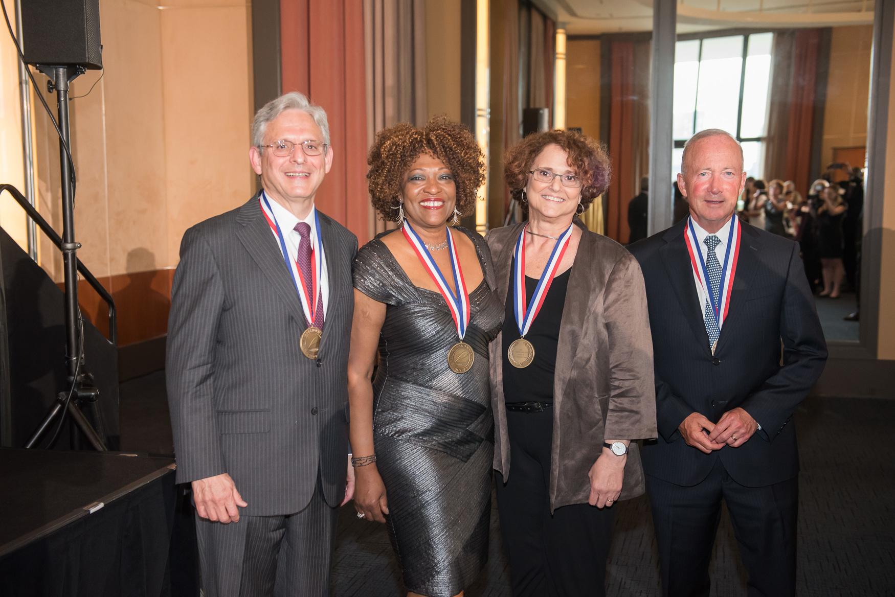 Chief Judge Merrick Garland, Rita Dove, Dr. Felice Kaufmann and Mitchell E. Daniels, Jr.