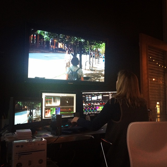 Color correcting the film today!