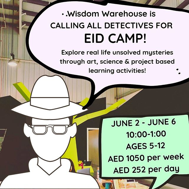 You asked and we delivered!  Next week, we will be holding an UNSOLVED MYSTERIES Eid Camp!  Limited Spaces available so book you're spot quickly!