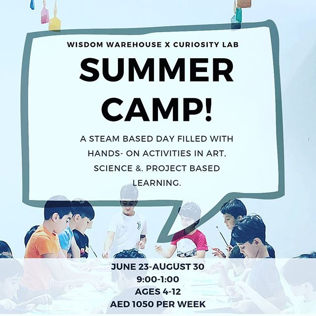 Camp has officially started and spaces are filling up fast!  Make sure you book your child's spot in our  Super Cool  Fun Educational Unique Wonderful & Spectacular  camp with @curiositylabdubai today!!