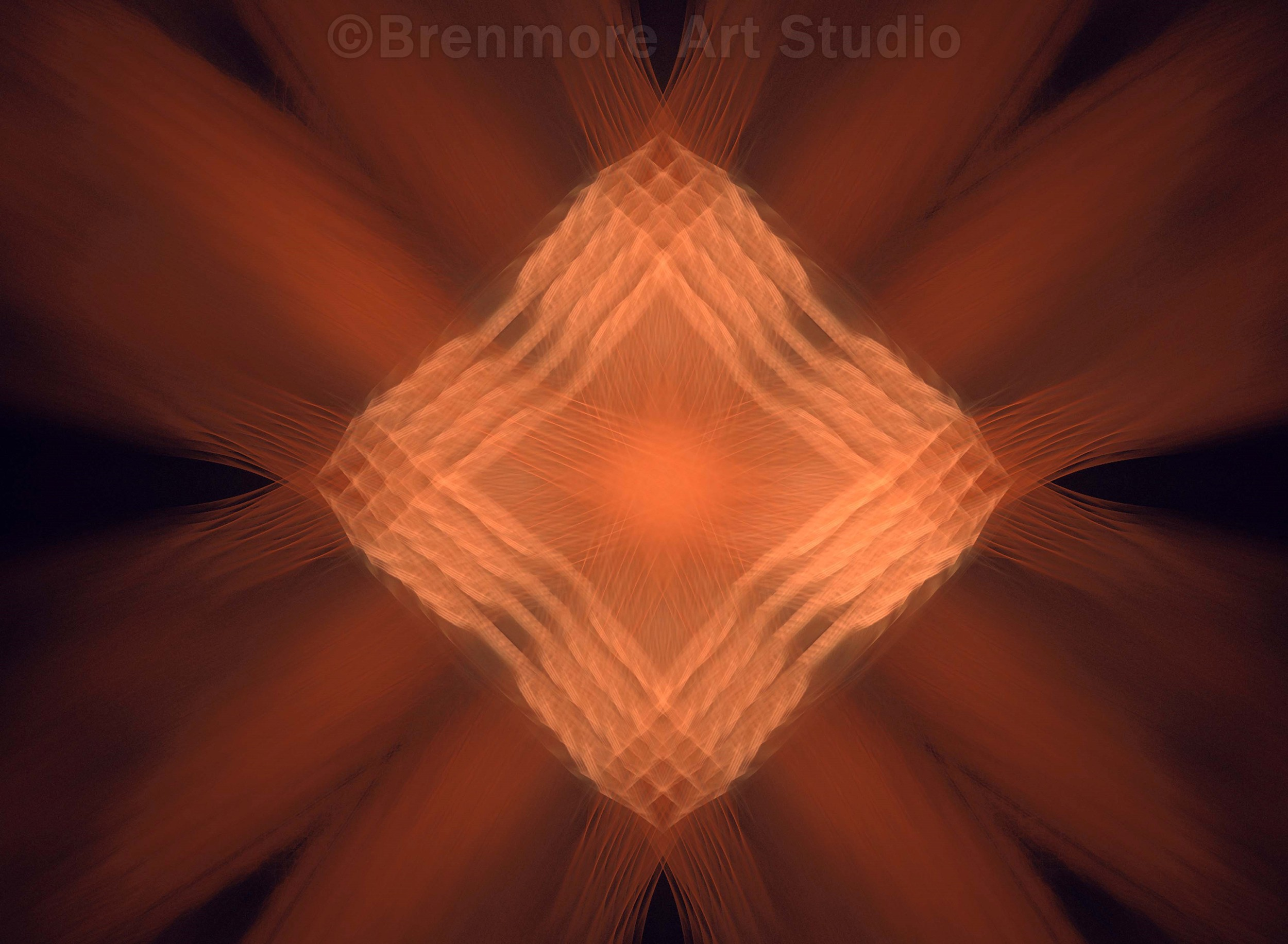 Tribal Shape, Orange