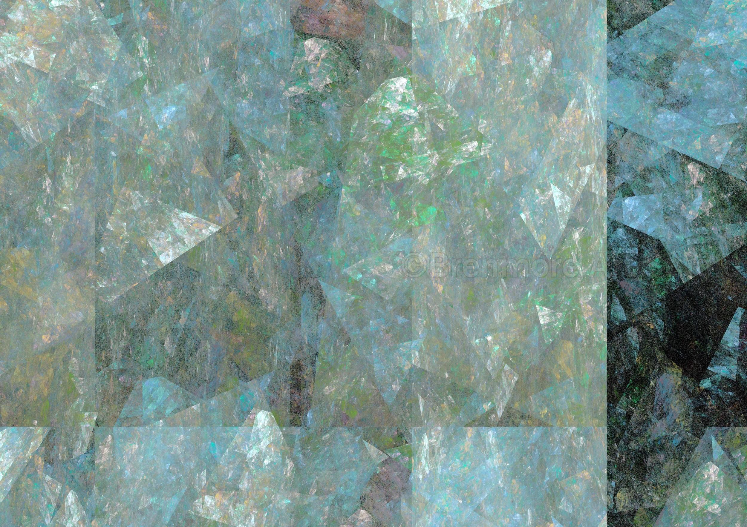 Geometric with Light Blue Veil